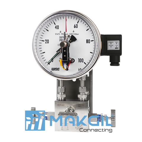 Đồng hồ đo chênh áp ITEC P650 (Differential pressure gauge with electrical contact type_P650 series)