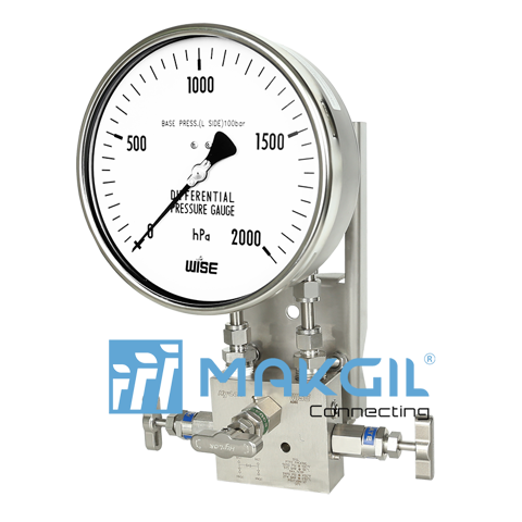 Đồng hồ đo chênh áp ITEC P660 (Differential pressure gauge with diaphragm element_P660 series)