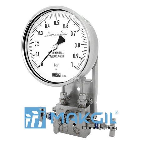 Đồng hồ đo chênh áp ITEC P670 (Differential pressure gauge with bellows element_P670 series)
