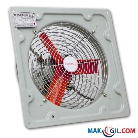 Quạt phòng nổ 16'' ATEX Rated EX Explosion Proof Extractor Ventilation Axial Fan with Safety Louver Shutter