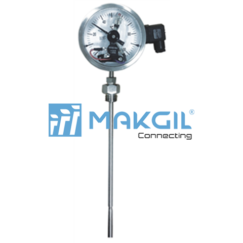Industrial thermometer, with electrical contact, Dome style (T708)