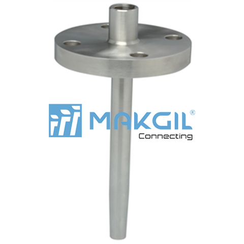 FLANGED THERMOWELL WITH EXOTIC WETTED PARTS (W105)