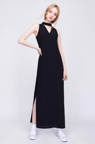 Đầm dài cut out Can De Blanc