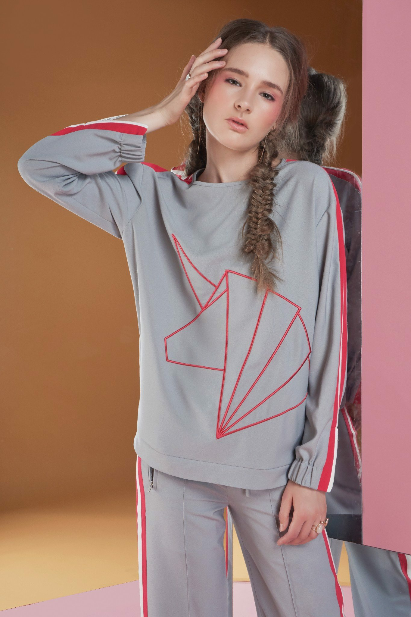 Unicorn Embroidery Long Sleeve Top