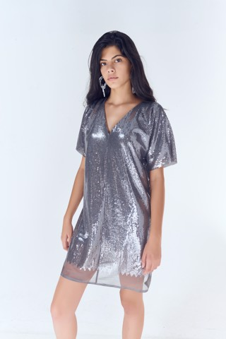 Sequin Oversize Mini Dress