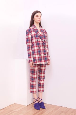 Plaid Freemale Blazer