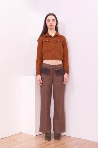 Camel Croptop Jacket