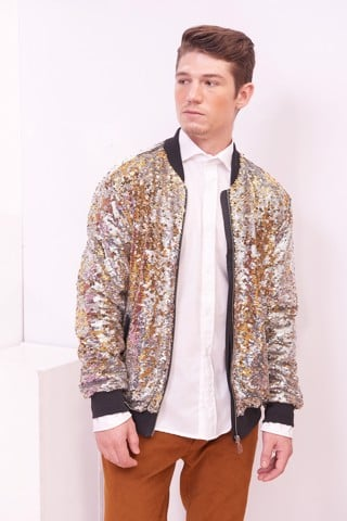 Sequin Male Bomber