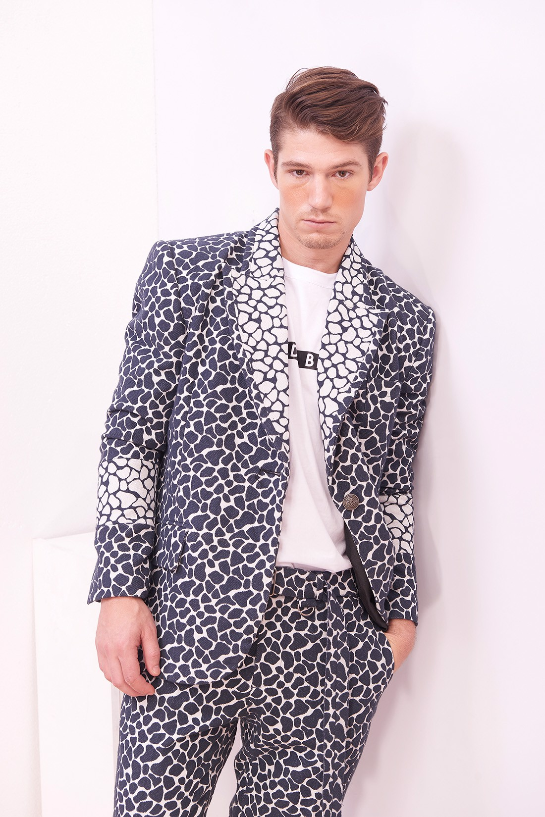Rock Wall Pattern Blazer