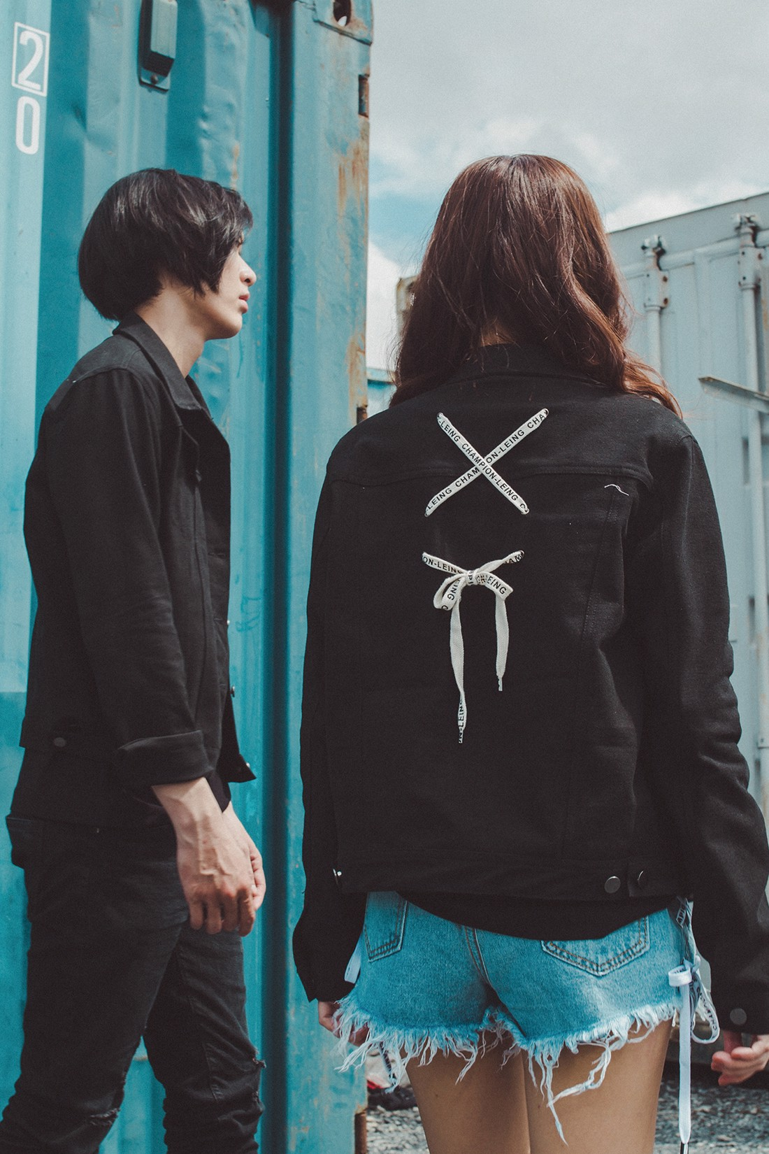 String Cross Back Unisex Jacket