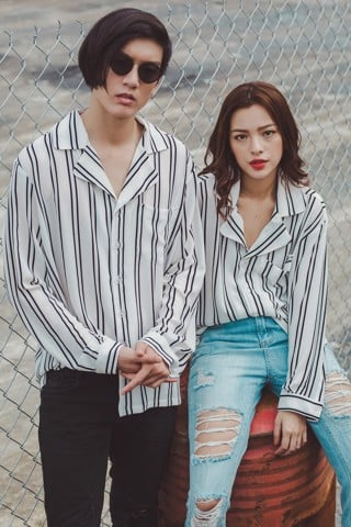 Stripe Unisex top