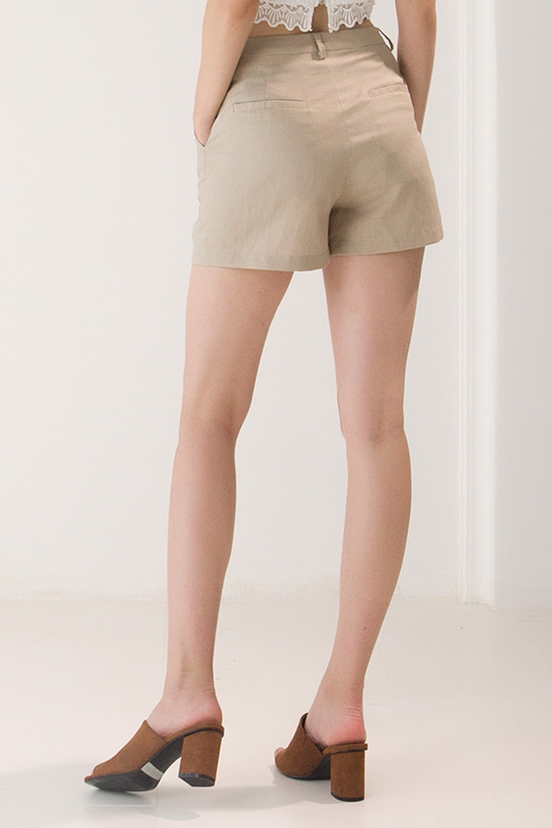 Linen Summer Mini Short
