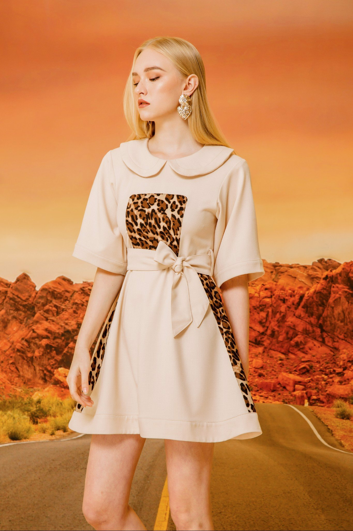 LEOPARD PRINT LITTLE DRESS