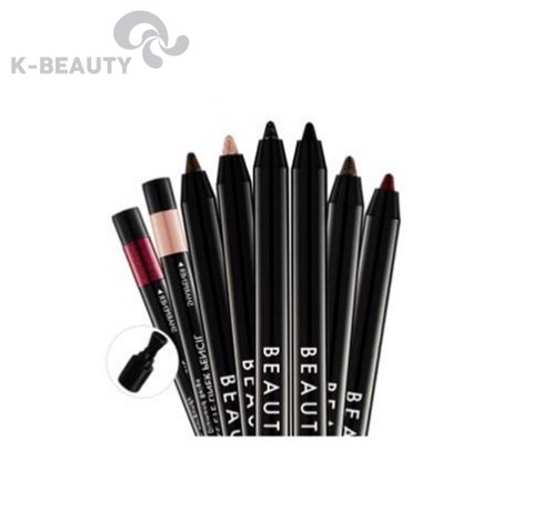 Bút chì kẻ mắt không trôi Beauty People Fast 10's Gel EyeLiner Pencil Set Single Type