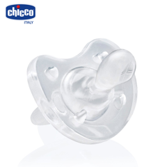 Ti giả Chicco silicon Physio soft trắng 0m+