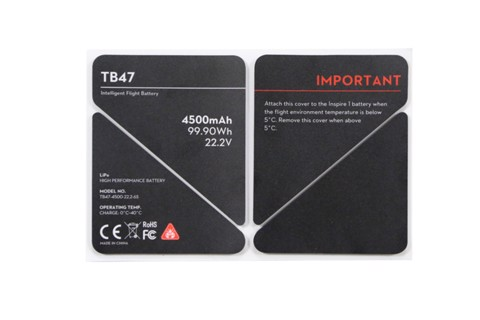 linh kiện inspire - inspire 1 - tb47 battery insulation sticker