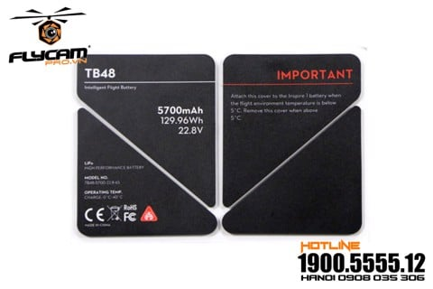 linh kiện inspire 1 - tb48 battery insulation sticker