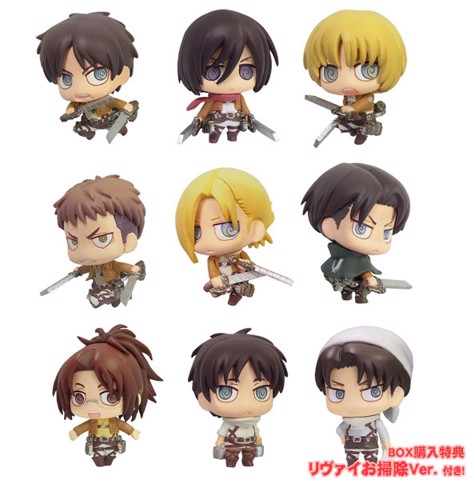 Color Colle Attack on Titan 8 Pack BOX