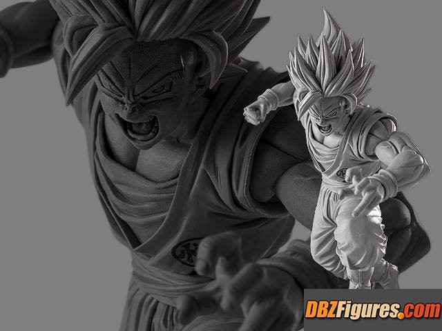 Super Saiyan 2 Son Goku Original Sculpture Color (Gray)