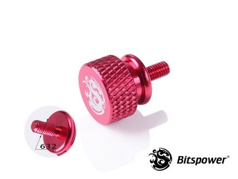 Bitspower Logo Aluminum Thumb Screw For 632 (Deep Red)