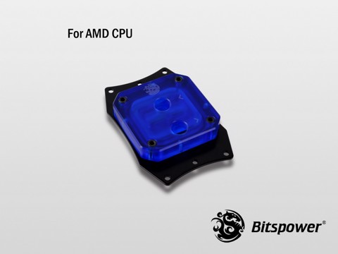 Bitspower Summit EF AMD Acrylic Blue - CPU Block
