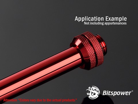 Bitspower None Chamfer Brass Deep Red 300 mm - OD 12MM Hard Tubing