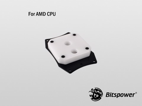 Bitspower Summit EF AMD Acrylic White - CPU Block