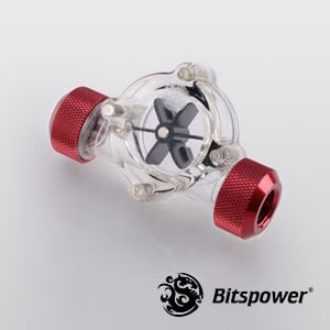 Bitspower Flow Indicator Deep Blood Red