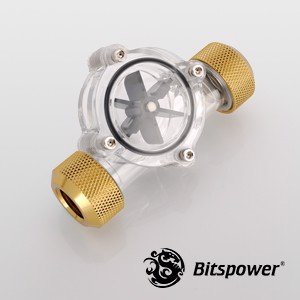 Bitspower Flow Indicator Golden