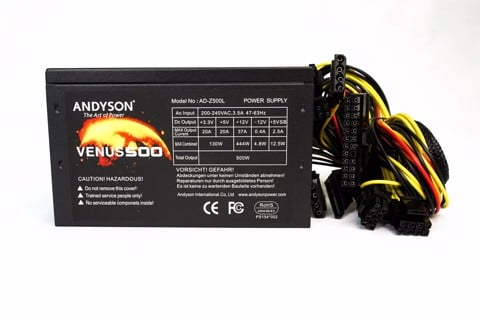 Andyson Venus 500W  - Passive PFC Single Rail True Power