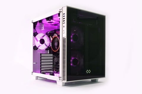 Infinity Cube White RGB - Mid-Tower Case
