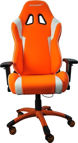 AK Racing K702D White/Orange - 4D Armrest Gaming Chair