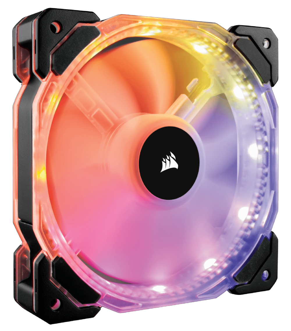 how to change the color of corsair hd120 fans