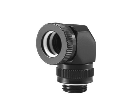 Phanteks Glacier 12mm Hard Tube Rotary Fitting 90 Black
