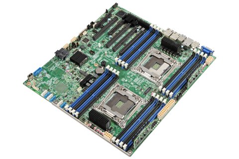 Intel DBS2600CW2R - Dual Xeon E5-2600V4 Server Board
