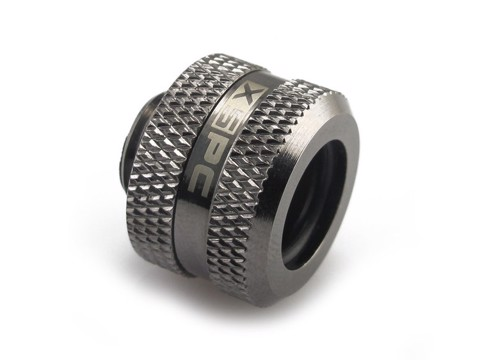 XSPC G1/4 to 14/10mm PETG Triple Seal (Black Chrome)