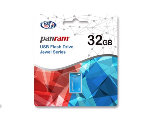 Panram Jewel Sapphire Blue 8GB - USB 3.0 Flash Drive