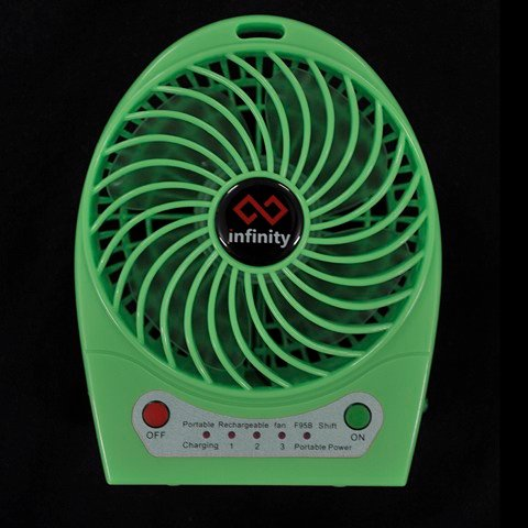 infinity Tornado Green - Power Bank & Hi-performance Fan
