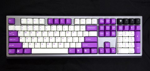 Tai-Hao Double Shot ABS Raspberry/White mixed - Full 104 keys