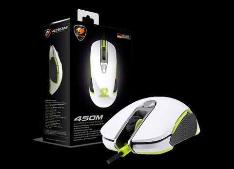 Cougar 450M White/Green RGB Led - Optical Pro Gaming