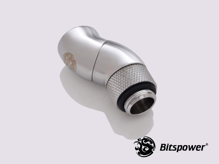 Bitspower G1/4'' Silver Shining Dual Rotary 90-Degree IG1/4'' Extender