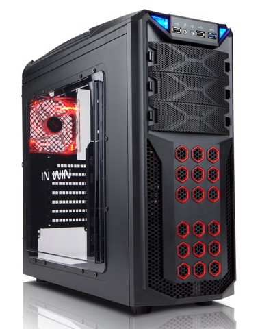 In-Win GT1 Black Gaming Mid-Tower Case