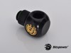 Bitspower G1/4'' Matt Black Q Plus-Rotary IG1/4''X2 Extender