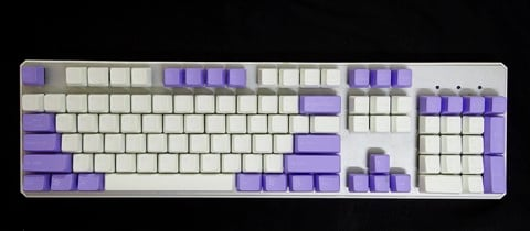 Tai-Hao Double Shot ABS Violet/White mixed - Full 104 keys