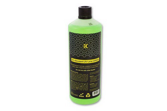 EK EKoolant Premium Premix Coolant - UV Lime Green - 1000mL