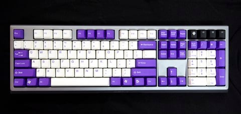 Tai-Hao Double Shot ABS Dark Violet/White mixed - Full 104 keys