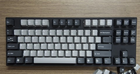 Tai-Hao Double Shot ABS Grey/Black mixed - Full 104 keys