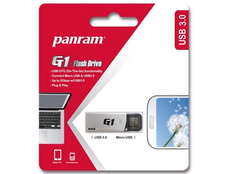 Panram GT1 Silver 32GB - OTG USB 3.0 Flash Drive