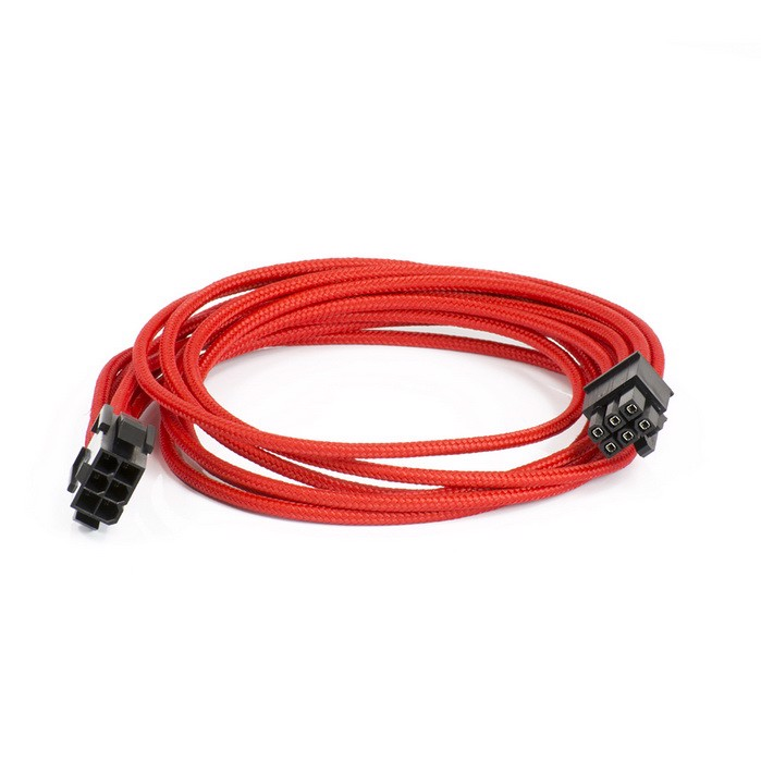 Phanteks PCI-E 6-pin to 6-pin Extension 500mm - Red Sleeved Cable