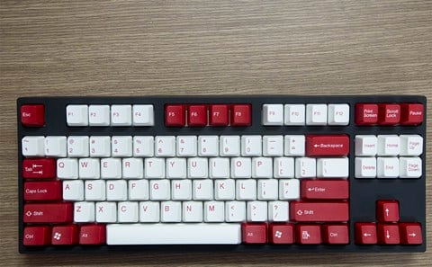 Tai-Hao Double Shot ABS White/Red mixed - Full 104 keys